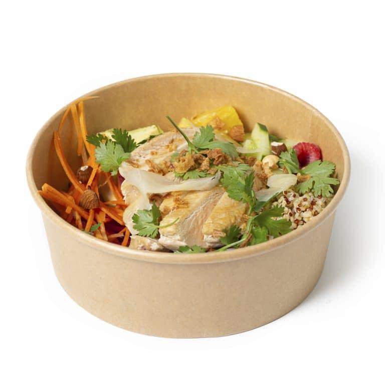 Poke bowl poulet restaurant La part des Anges Castres