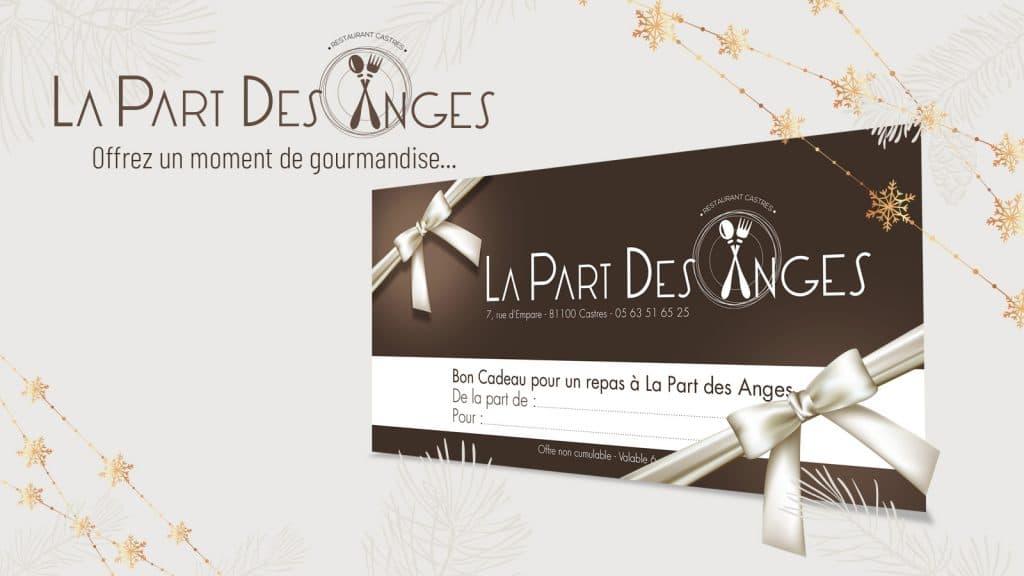 Offrez un chèque cadeau restaurant La Part des Anges Castres